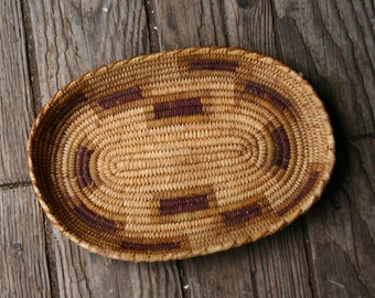 Antique Native American Basket Likely Papago Tohono O'odham people Woven Basket Antique From Nowvintage on Etsy