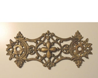 Solid Brass Hardware Decorative Victorian Drawer Pull - Eastlake Brass Hardware -,REDuCED