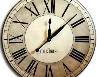 FREE INSCRIPTION 24in OXFORD Large Wall Clock Roman Numerals Family Heirloom