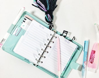 To Do List *Pocket* Printable Cute Pastel Goth Planner Insert
