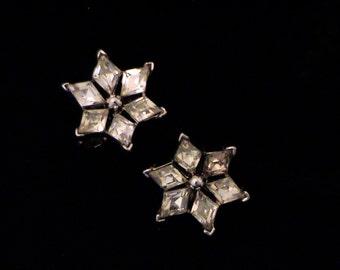 """Vintage TRIFARI """"Twinkle"""" Crystal Rhinestone Earrings"""