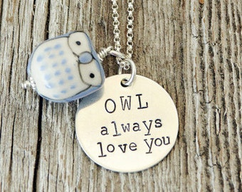I Will Always Love You Owl Necklace, Owl Always Love You, Gifts for Kids, Gifts From Mom, Gifts for Little Girls