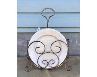 Silverware Caddy - Silverware Holder - Napkin Holder - Plate Holder - Kitchen Utensil Holder - Modern Decor - Chic