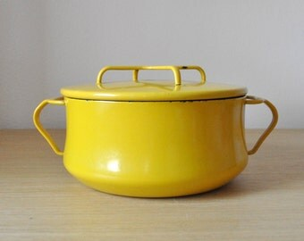 yellow dansk kobenstyle 2 quart pot