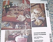 Pattern Victorian Fancies Box Bag Sachet Sleep Mask Lace Accessories McCalls 4619 Uncut Sewing Sew Handmade Storage Organization Gifts