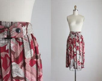 vintage cabernet skirt