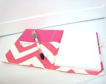 Honey Do List, Grocery List Taker Day Planner Comes with Note Pad and Pen-  Hot Pink Chevron