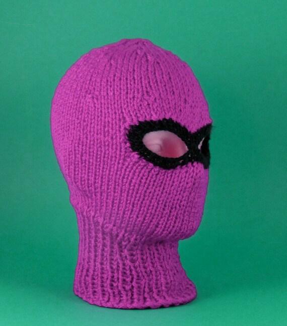 Balaclava Knitting Pattern 2 Needles : 40% OFF SALE Chunky Ski Mask Balaclava CIRCULAR knitting pattern by madmonkey...