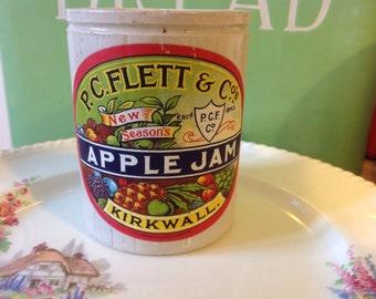 Vintage Apple Jam Stoneware Jar
