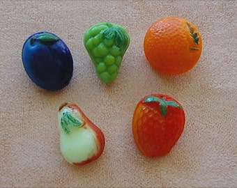 Small Glass Fruit Shaped Buttons