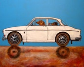 """181 Volvo Pinschers – print 38x38cm/15x15"""""""