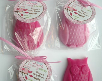 Owl Babies Been a Hoot Woodland Animals Owl Always Love You Owl Blossom Shower Favors Handmade Soap (20 complete favors with tags)