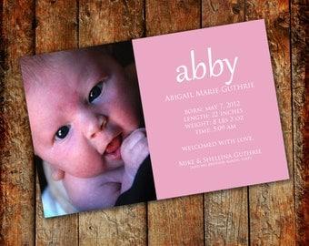 Birth Announcement: Color Block 4x6