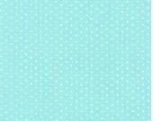 Spot On Pearl Azure Polka Dot Robert Kaufman Fabric, Choose your cut