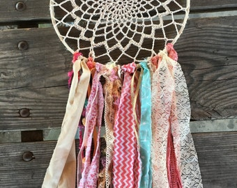 """Dream Catcher, Custom Made dreamcatcher.  Perfect as Decor or Boho Baby Shower or other Boho Chic Party.  12"""" handmade Party Decoration"""