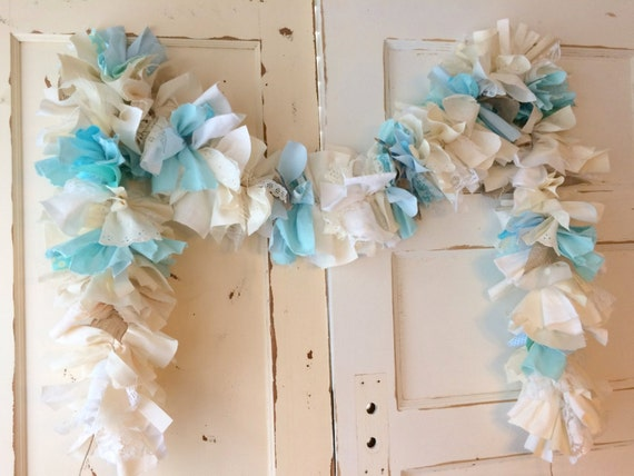 baby boy burlap shower party decoration 6 10 foot fabric garland
