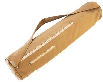 yoga mat bag for men - zipper pocket padded strap - brown yoga bag - yoga mat bag - brown yoga tote - mens yoga bag yoga mat carrier for men
