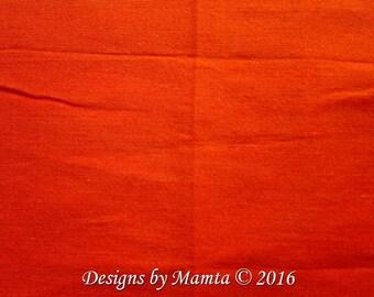 Neon Orange Dupioni Silk Fabric, Tangerine Silk Dupioni Fabric, Indian Silk Fabric, Orange Dupion Silk, Silk India Fabric, Neon Dupioni Silk