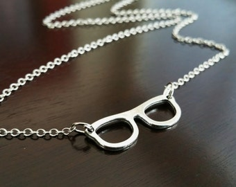 Eyeglasses Spectacles Reading Nerd Whimisical Necklace