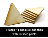 Unfinished Wood Triangle - 1 inch tall by 1 inch wide and 1/8 inch thick wooden shape (TRIA01)