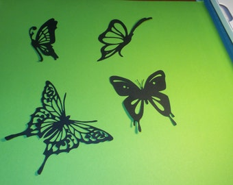 Butterfly die cuts,butterfly party decorations,butterfly lanterns,butterfly scrapbooking,Butterfly silhouettes