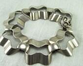 Circa 1950's Modernist  Sterling Silver Bracelet by Napier