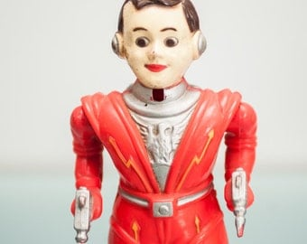 1950's Vintage SPACEMAN WINDUP TOY,  Irwin Plastic, Science Fiction,
