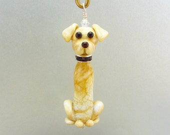Labrador Retriever Ornament - Lampwork Glass Bead Creation SRA