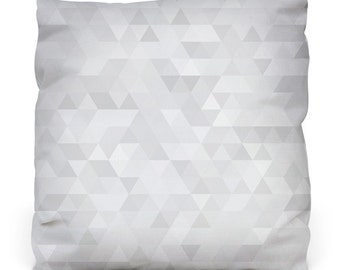 Paper triangles Pillow W/ Insert