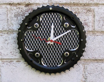 Recycled Bicycle Chainring Wall Clock