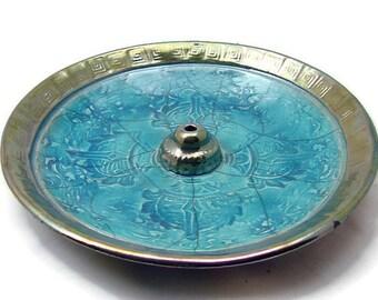 Raku VAJRA INCENSE BURNER Handmade Ceramic Pottery