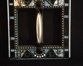 Black/Silver Switchplate