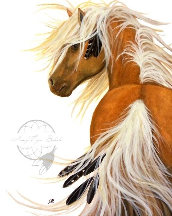Majestic Flaxen Palomino Horse Art Giclee Print By Bihrle