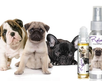 Three Cute Puppies RELAX Aromatherapy for Dog Anxiety, Stress, Fear - 4th of July, Thunderstorms, Travel, Separation Roll-on & Spray