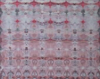 Rhodochrosite - Crystals Hand Dyed Fabric