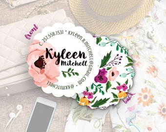 Causal Business Cards, Sorority Cards, Custom Business Cards, Social Media Cards, Blogger Cards, Follow Me Cards/ Kyleen S-S21 UU1
