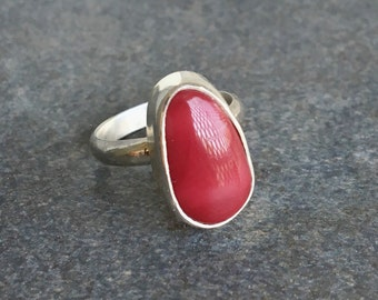 Rings, Red Alunite Ring, Red Alunite, Silver Ring, Silver Alunite Ring, Sterling Silver Ring, Statement Ring