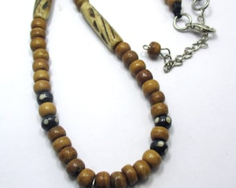 handmade Ethnic Tibetan,Tibet Turquoise ,Bone beads Necklace