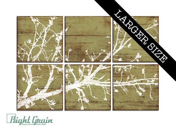 EXTRA Large Cherry Blossom Nature Print Decor - Rustic Wall Art - Girls Room Nursery Decor 32x48