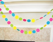 Pink Circus Party Paper Garland, Girl Carnival Birthday Party Decorations, Hot Pink Carousel Theme, Pink Teal Train Party, Pink Clown Theme