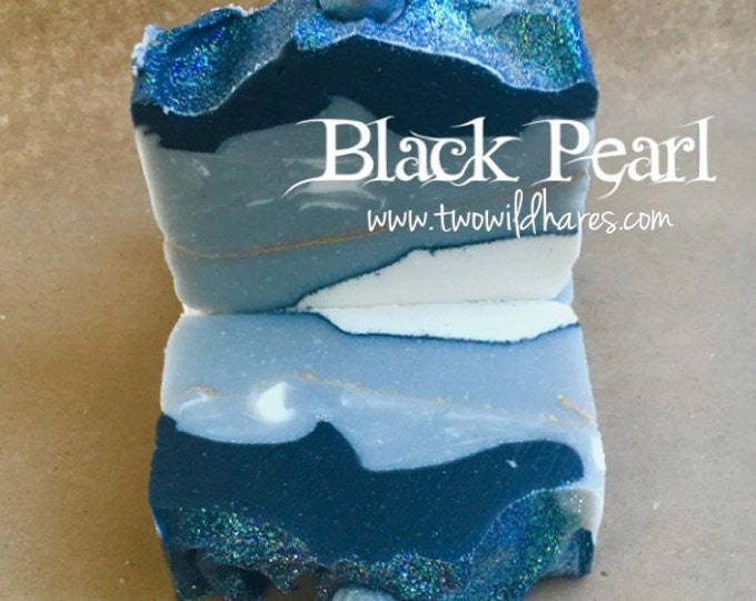 CLEARANCE- BLACK PEARL Handmade Soap, 4.25oz (scent faded)