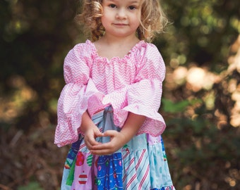 Girls Holiday Dress, Pink Angel, sizes 6 months to 8 years, by SunLoveShirts