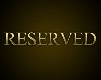 Reserved for Lorrie - payment 4 of 5