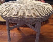 Vintage White Wicker table/Doll/Salesman Sample