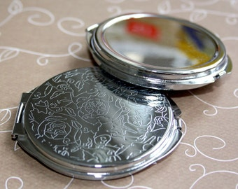 4 x Pocket Mirror Resin Cameo base setting