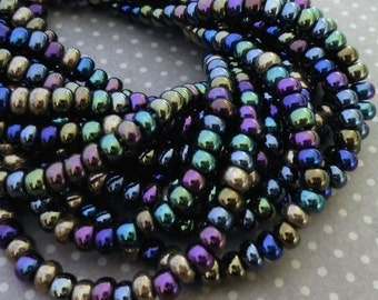 free UK postage 150 beads Czech Glass Beads 4.1mm Heavy Metals Mix SB6-MIX23