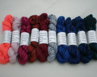 Mini Skeins - Madelinetosh tosh sock 5 g set of 10 (set 1)