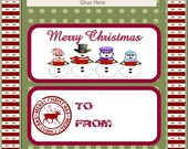 Printable Christmas Gifts for Classrooms or Groups - Download and Print Candy Bar Wrappers & Pencil Toppers