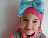 Fleece Headband with Large Bow - Perfect for your tween! -Ear Warmer-Winter Hat