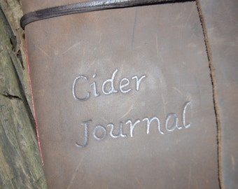 Handmade Leather Cider Brewing Journal with FREE Personalization